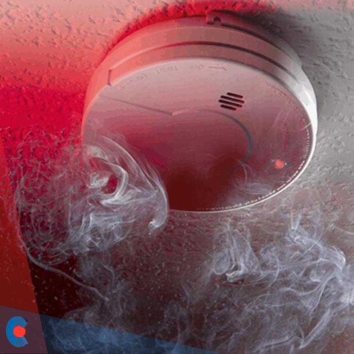 Detector de incendios en el hogar