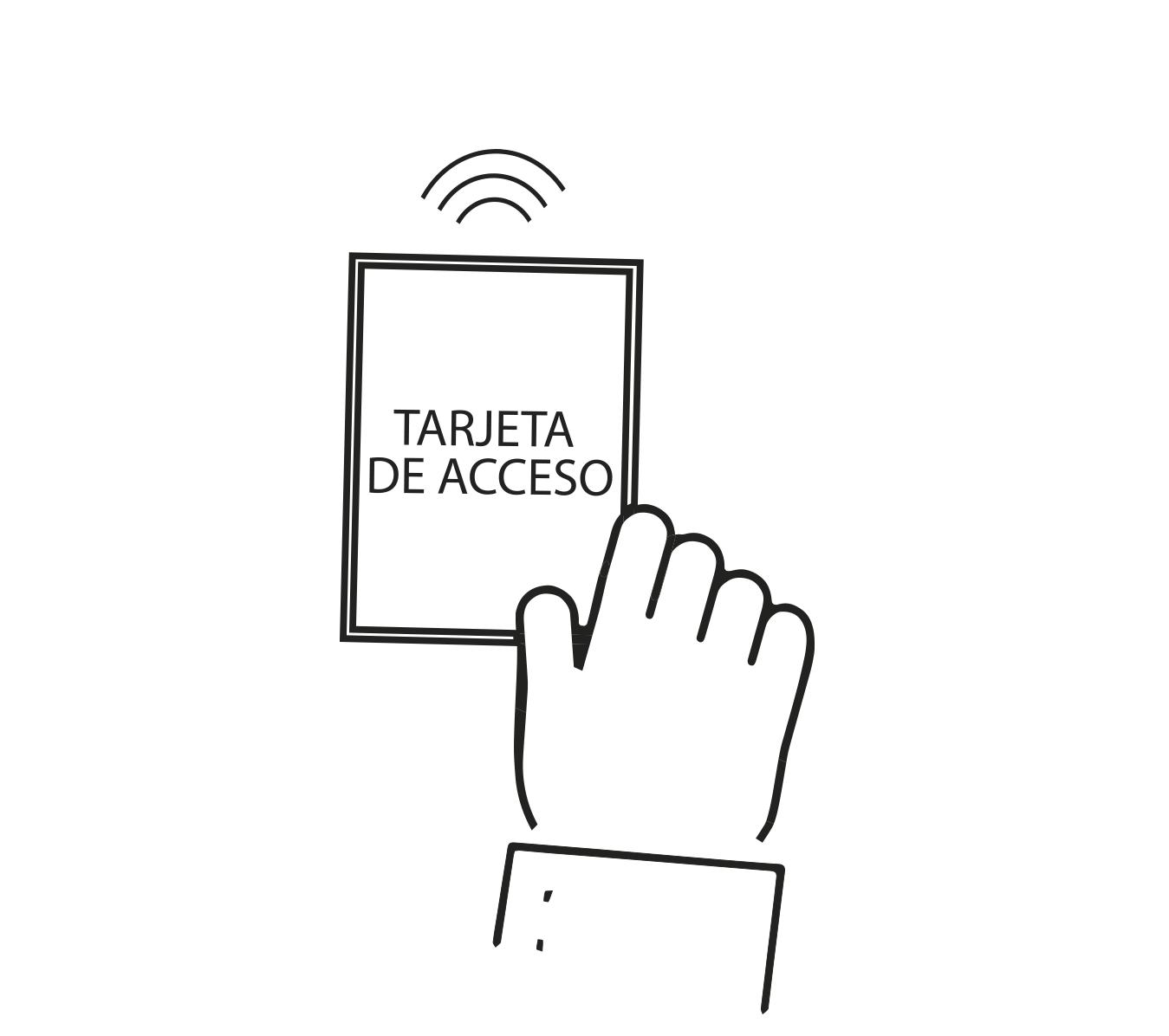 dibujo tarjeta acceso magnética